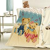法國-MONTAGUT-音樂小熊-法蘭絨毛毯