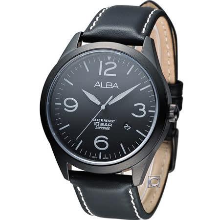 雅柏 ALBA 極簡型男時尚腕錶 VJ42-X126C AS9753X1