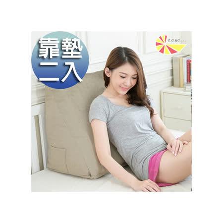 【凱蕾絲帝】得體多功能三角靠墊/美腿枕-茉綠秋香(2入)