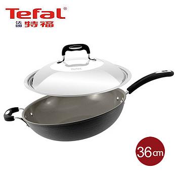 法國特福Tefal 多層陶瓷單柄炒鍋+蓋(36cm)