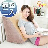 【凱蕾絲帝】舒涼紙纖三角靠墊/美腿枕-咖啡(2入)