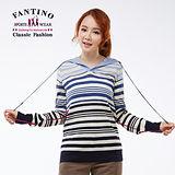 【FANTINO】法式橫條紋羊毛上衣(灰、藍)087201-202