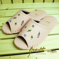 【クロワッサン科羅沙】手工限量室內鞋 TI 小薇皮拖 粉色 26CM