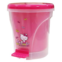 Hello Kitty腳蹋掀蓋雙層垃圾桶KT-0576