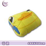 黃色小鴨.出發.雙面花色.暖暖被.保暖毛毯被.全程臺灣製造
