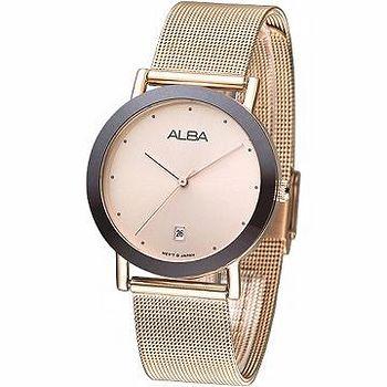 ALBA 經典米蘭風仕女腕錶 -IP金