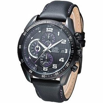 ALBA 視覺系雅爵計時腕錶 -IP黑