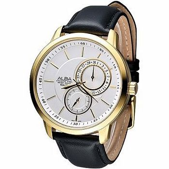 ALBA 魅力型男雙環系列時尚腕錶 腕錶