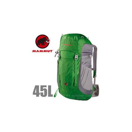 【瑞士 MAMMUT 長毛象】Creon Light 45L 輕量登山健行背包_02470 綠灰