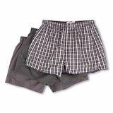 【CK】2014男經典灰色條格紋混搭平口內著3件組【預購】