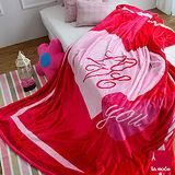 La Mode寢飾 雙人超細雪芙蓉毯(愛心)