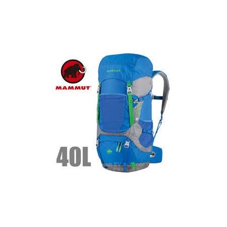 【瑞士 MAMMUT 長毛象】Heron Crest 40+10L 專業透氣舒適登山背包_2510-02910 藍灰