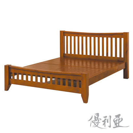 【優利亞-瑪吉斯】雙人5尺實木床架