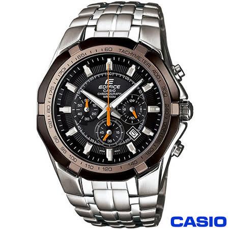 【CASIO卡西歐】EDIFICE 極速三眼賽車錶(EF-540D-1A5)