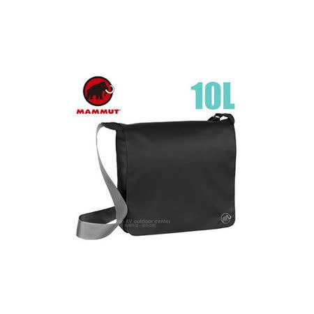 【瑞士 MAMMUT 長毛象】新款 Shoulder Bag Urban 10L 抗撕裂大掀蓋側背包/單肩斜背包.電腦筆電包/旅遊辦公.自助旅行/00600-0001 黑