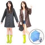 【RainParty】日本『娃娃裝』雨/風衣系列 時尚點點_(2色可選) 買再送鋼筆傘!