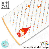 【クロワッサン科羅沙】日本毛巾~加藤真治童話故事系列~小紅帽斜花毛巾 30*80CM