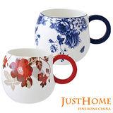 【Just Home】圓滿骨瓷馬克杯380ml (超值2入組)