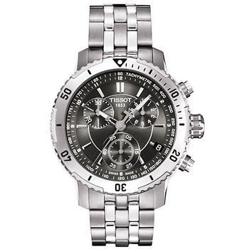 TISSOT PRS 200 競賽傳奇計時腕錶-灰黑/銀 T0674171105100