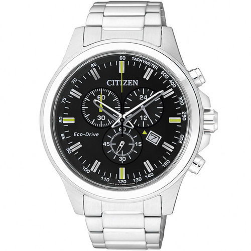 CITIZEN Eco~Drive 光動能 極限空間計時腕錶^(黑43mm^) AT231