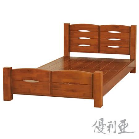 【優利亞-弗朗基】加大6尺實木床架