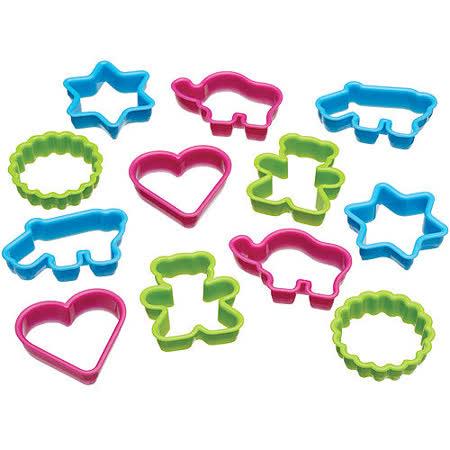 《KitchenCraft》桶裝餅乾切模12件(動物愛心)