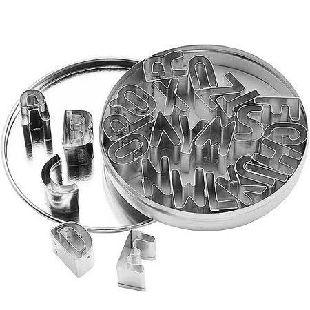《KitchenCraft》錫罐餅乾切模26件(字母)