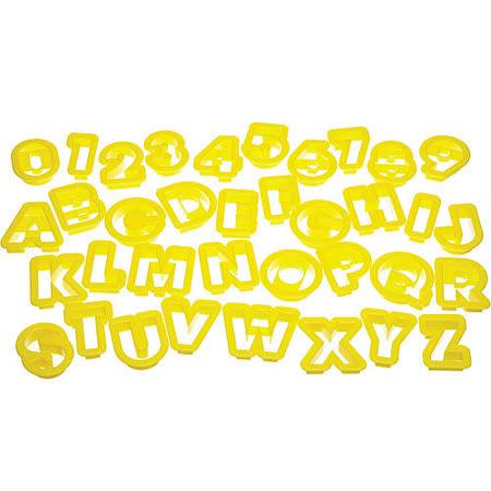 《KitchenCraft》桶裝餅乾切模36件(數字字母)