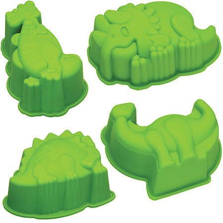 《KitchenCraft》矽膠蛋糕模4件(恐龍)