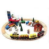 【funKids】木製-兒童工程遊戲火車軌道組(70PCS)