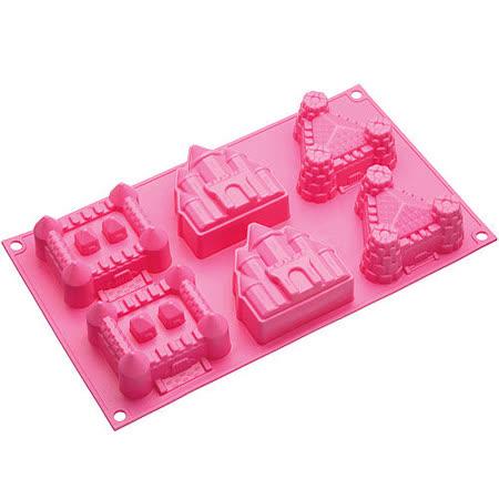 《KitchenCraft》六格城堡蛋糕烤盤(桃)