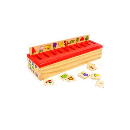 【funKids】木製-幼兒蒙特梭利圖案配對知識分類盒