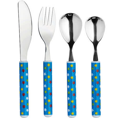 《KitchenCraft》兒童餐具4件(星藍)
