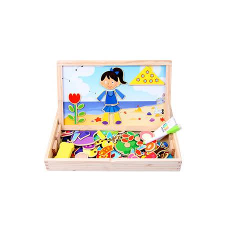 【funKids】木製-天馬行空磁性拼貼108片-(123算數組)