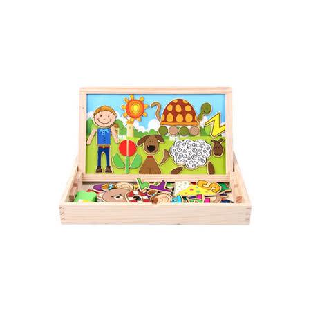【funKids】木製-天馬行空磁性拼貼寶盒-(ABC組)