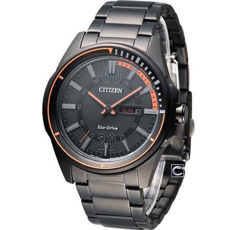 CITIZEN Eco-Drive 星辰 玩命關頭時尚腕錶 AW0035-51E