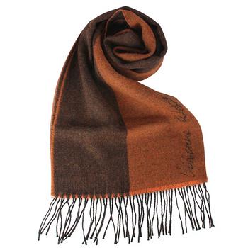 Vivienne Westwood 新款雙色混羊毛logo披肩圍巾-深橘色