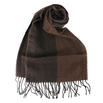 Vivienne Westwood 新款雙色混羊毛logo披肩圍巾-深咖啡