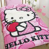 Hello Kitty【心蘋果樂園】 暖暖厚毯被