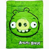 ANGRY BIRDS憤怒鳥【射擊遊戲系列】 暖暖厚毯被(綠豬)