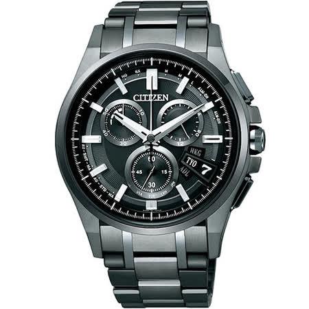 CITIZEN Eco-Drvie 掌握全球光動5局電波腕錶(IP黑/44mm)_BY0094-87E