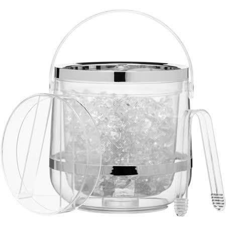 《KitchenCraft》冰夾+淨透雙層冰桶