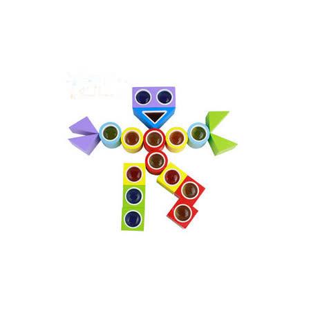 【funKids】木製-繽紛世界萬花筒積木(24pcs)