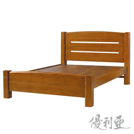【優利亞-潔斯】加大6尺實木床架
