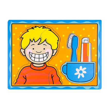 funKids 小男孩學習刷牙拼圖