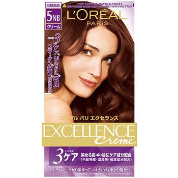 巴黎萊雅優媚霜三重護髮雙管染髮霜-自然棕