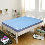 KOTAS高週波吸濕排汗透氣折疊床墊 雙人 五尺 藍