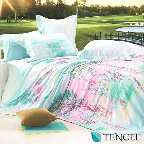 ~一枝獨秀~雙人100^%天絲TENCEL四件式兩用被床包組