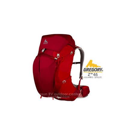【美國 GREGORY】新款 Z65 專業健行登山背包(M/65L)_火花紅 74565