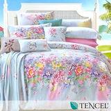 《夢琦》加大100%天絲TENCEL四件式兩用被床包組